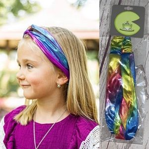 Iridescent Néw in bag head wrap for girls
